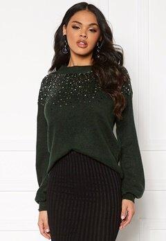 Jacqueline de Yong New Sparkle L/S Pullover Scarab/Sequins Bubbleroom.no