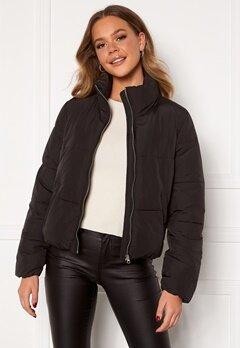 Jacqueline de Yong NewErica Padded Jacket Black Silver zipper Bubbleroom.no