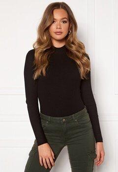 Jacqueline de Yong Newmaryan L/S Highneck Pullover Knit Black Bubbleroom.no
