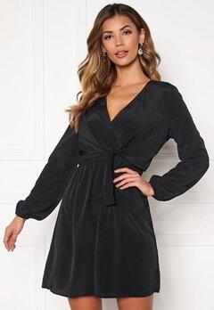 Jacqueline de Yong Pita L/S Tie Dress Black Bubbleroom.no