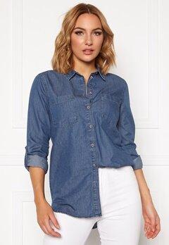 Jacqueline de Yong Roger L/S Long Shirt Medium Blue Denim Bubbleroom.no