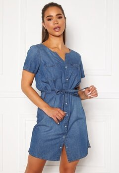 Jacqueline de Yong Saint Life Shirt Dress Medium Blue Denim Bubbleroom.no