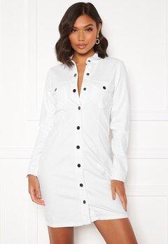 Jacqueline de Yong Sanna Denim Dress White Bubbleroom.no