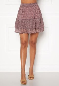 Jacqueline de Yong Sibel Short Skirt Wistful Mauve AOP Bubbleroom.no