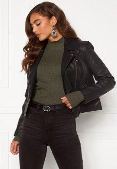 Jacqueline de Yong Simba Faux Leather Jacket Black Bubbleroom.no
