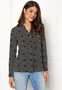 Jacqueline de Yong Tracy L/S Shirt Black AOP Bubbleroom.no