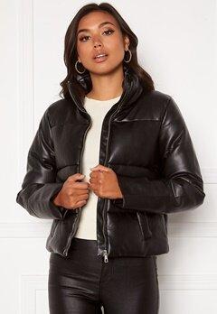Jacqueline de Yong Trixie Faux Leather Jacket Black Bubbleroom.no