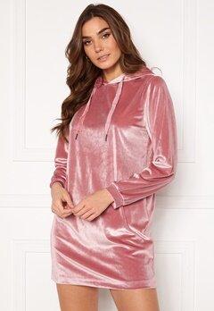 Jacqueline de Yong Velvet Hoodie Dress Mesa Rose Bubbleroom.no