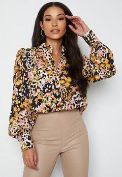 JDY Claudia L/S Shirt Black Bold Leopard bubbleroom.no