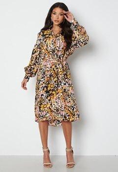 JDY Claudia L/S Shirt Dress Black Bold Leopard bubbleroom.no
