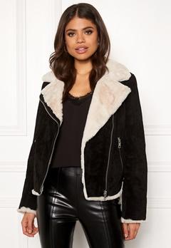 JOFAMA Bella Leather Jacket 00 Black Bubbleroom.no