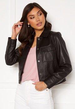 JOFAMA Lynn Leather Jacket Black Bubbleroom.no