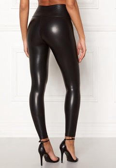 John Zack Faux Leather PU Legging Black Bubbleroom.no