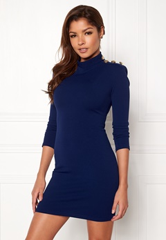 John Zack Gold Button Bodycon Dress Royal Blue Bubbleroom.no