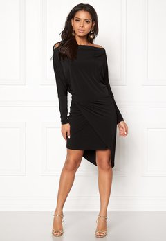 John Zack Off Shoulder Dress Black Bubbleroom.no