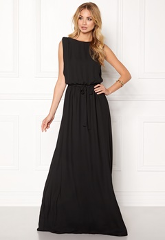 John Zack One Back Maxi Dress Black Bubbleroom.no