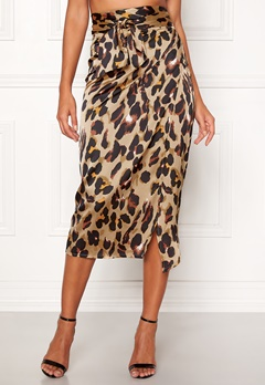 John Zack Wrap Midi Skirt Animal print Bubbleroom.no