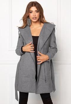 OBJECT Jolie Coat Light Grey Melange Bubbleroom.no