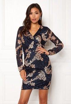 SELECTED FEMME Joye LS Lace Dress Dark Sapphire Bubbleroom.no