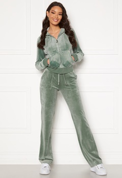 Juicy Couture Del Ray Classic Velour Pant Chinios Green Bubbleroom.no