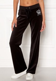Juicy Couture Luxe Juicy Crown Pant Pitch Black Bubbleroom.no