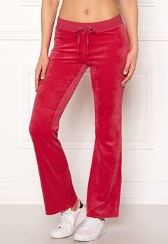 Juicy Couture Luxe Velour Del Rey Pant Cherry Top Bubbleroom.no