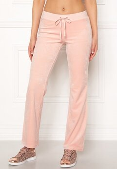 Juicy Couture Luxe Velour Del Rey Pant Pink Shadow Bubbleroom.no
