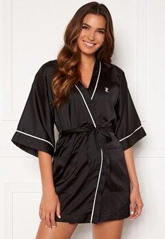 Juicy Couture Peggy Satin Kimono Black Bubbleroom.no