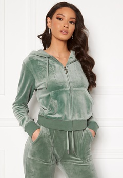 Juicy Couture Robertson Classic Velour Hoodie Chinois Green Bubbleroom.no