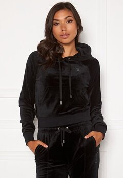 Juicy Couture Sally Classic Velour Hoodie Black Bubbleroom.no