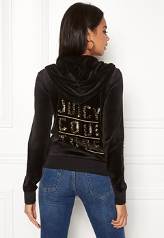 Juicy Couture Stack Velour Robertson Jacket Pitch Black Bubbleroom.no