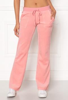 Juicy Couture Velour Del Rey Pant Sorbet Pink Bubbleroom.no