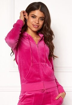 Juicy Couture Velour Robertson Jacket Raspberry Pink Bubbleroom.no