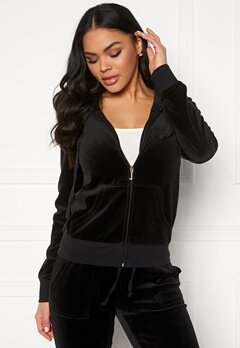 Juicy Couture Velour Track On Going Jkt Pitch Black Bubbleroom.no