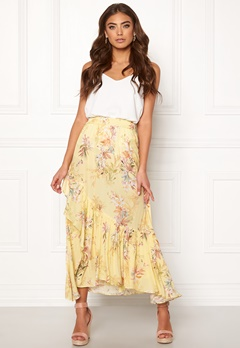Ravn Kai Skirt Yellow Flower Bubbleroom.no