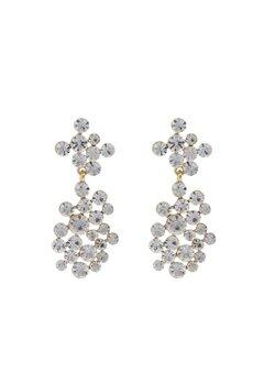 SNÖ of Sweden Kairo Big Pendant Earrings Gold/Clear Bubbleroom.no