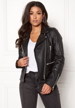 JOFAMA Kajta Leather Jacket 00 Black Bubbleroom.no