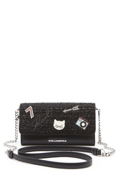 Karl Lagerfeld Classic Wallet On Chain Black Bubbleroom.no