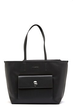 Karl Lagerfeld Ikonik Metal Pin Tote A999 Black Bubbleroom.no