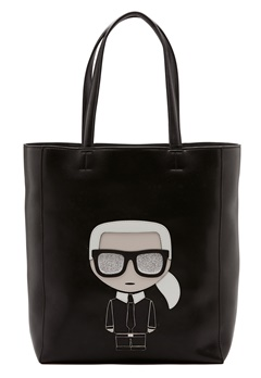 Karl Lagerfeld Ikonik Soft Tote Black/Nickel Bubbleroom.no