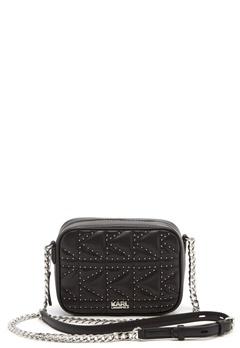 Karl Lagerfeld Quilted Stud Camera Bag Black/Nickel Bubbleroom.no