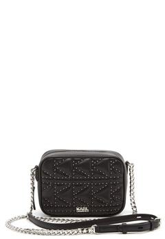 Karl Lagerfeld Quilted Stud Camera Bag Black/Nickel Bubbleroom.no