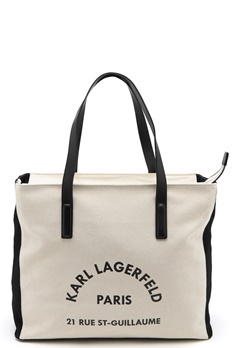 Karl Lagerfeld Rue Lagerfeld Beachbag Natural Bubbleroom.no