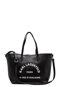 Karl Lagerfeld Rue St Guillaume Tote Black/Nickel Bubbleroom.no