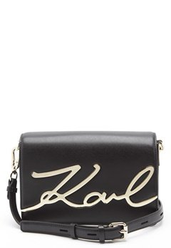 Karl Lagerfeld Signature Shoulder Bag Black/Gold Bubbleroom.no