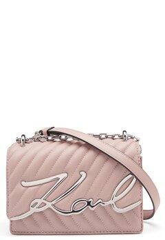 Karl Lagerfeld Signature Stitch S Bag 526 Powder Pink Bubbleroom.no