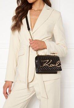 Karl Lagerfeld Signature Stitch S Bag 997 Black/Gold Bubbleroom.no