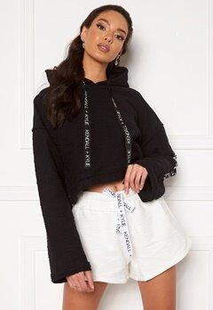 KENDALL + KYLIE K&K Active Hoody Inside Out Sweater Short Black Bubbleroom.no