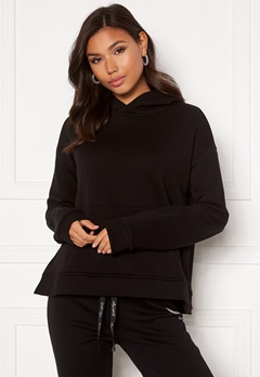 KENDALL + KYLIE K&K W Hoody Side Slit Black Bubbleroom.no