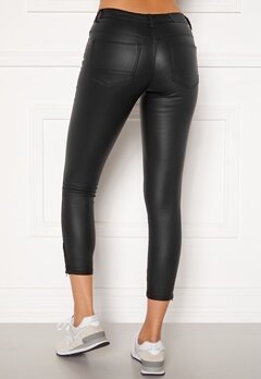 Noisy May Kimmy NW Coated Ankle Pants Black Bubbleroom.no